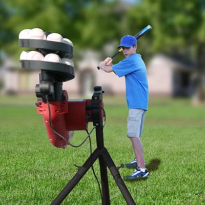 Heater BaseHit Pitching Machine - Pitchers View