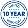10 Yr Warranty Label | Thumbnail