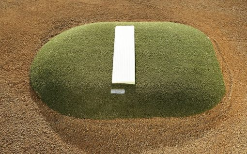 "Portable Pitching Mound Close Up | 4"" Outdoor Portable Mound With Green Astroturf"