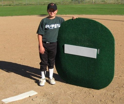 "4"" Full Sized Portable Game Mound With Youth Pitcher"