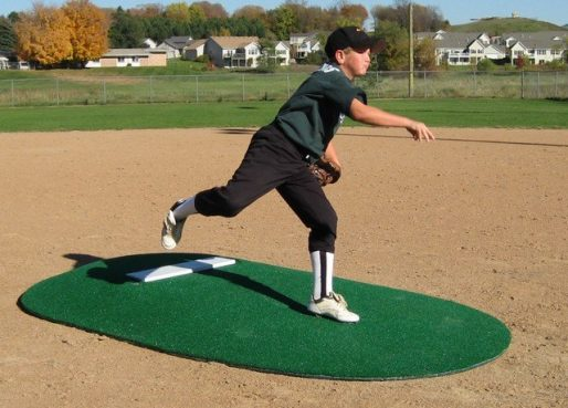 "Full Size 6"" Portable Game Mound For Pitcher's Ages 11 to 14 Years"