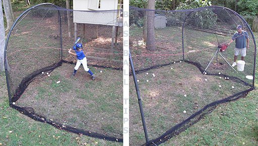 Xtender Batting Cage Showing 2 Views