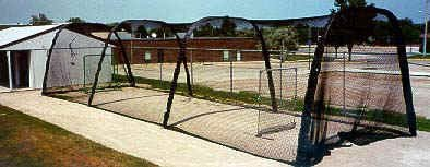 Batco Batting Tunnel Batting Cage Showing Outdoor Use