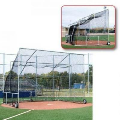 Basic Rolling Batting Cage Baseball Turtle In Front & Side Views