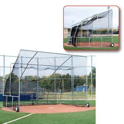 Basic Baseball Turtle Rolling Batting Cage Front & Side Views