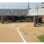 Rolling Foldable Batting Cage Baseball Turtle In Folded Storage View