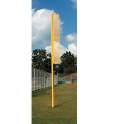 Foul Pole Sets | Optic Yellow Made In USA Steel In 3 Popular Heights