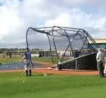 Big Bubba Batting Cage Batting Cage Portable Batting Cage Side View At Spring Training