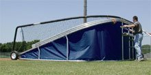 Big Bubba Batting Turtle With Navy Blue Skirt - batting cage