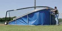 Big Bubba Batting Turtle With Royal Blue Skirt - batting cage