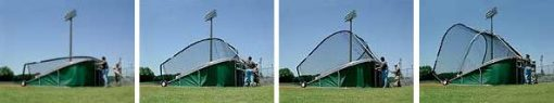 Big Bubba Batting Cage Showing 2 Person 2 Minute Time Lapse Folding Process