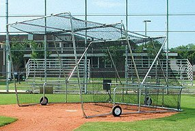Rolling Foldable Batting Cage Portable Backstop
