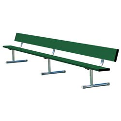 Team Bench With Back Shown In Team Color Forest Green In Optional Portable Mount