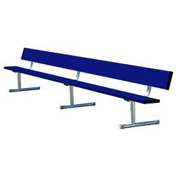 Team Bench With Back Shown In Team Color Navy Blue & Optional Portable Mount