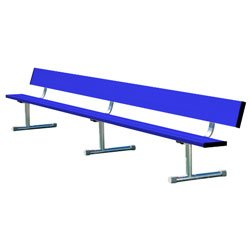 Team Bench With Back Shown In Team Color Royal Blue & Optional Portable Mount