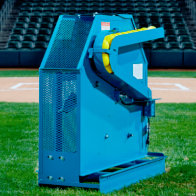 Iron Mike C 82 Pitching Machine Throws Baseballs & Softballs | Free Remote Control