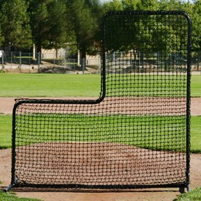 Economical Pitchers L Screen - 7' x 7' With 3' x 3' Cut Out