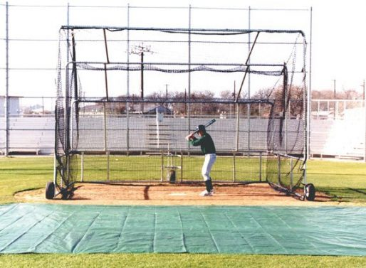 Basic Portable Batting Cage | Our Best Budget Rolling Batting Cage Baseball Turtle