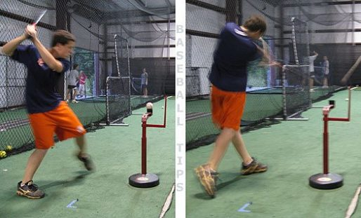 AS Tee Batting Tee | The Advanced Skills Tee Showing 2 Views From Back