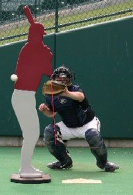 Designated Hitter Pitcher's Trainer - inside pitch view