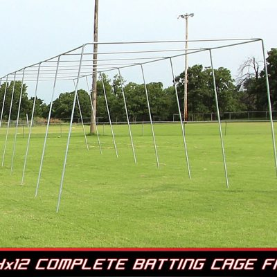 Basic 70 Ft. Pro Style Batting Cage Frame | End View