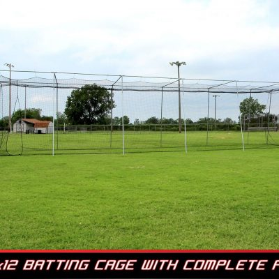 Complete Batting Cage Frame & Net | 55 Ft.
