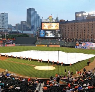 Full Field Tarp Covers Entire Infield Skin - Prevent Rainouts-0