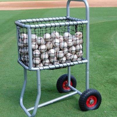 Pro Team Baseball Cart Rolling Baseball Caddy| Holds 300 Baseball or 150 Softballs