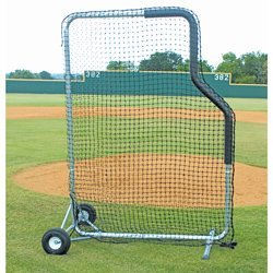 5' x 7' Pro Aluminum Mini L Screen with Wheels-Pitching L Screen
