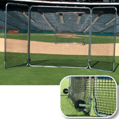 8' x 16' Tri Fold Baseball Screen Fungo Screen & wheels