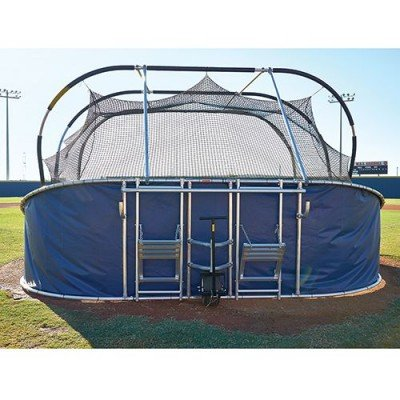 Big Bubba Elite Baseball Turtle Portable Batting Cage Rear View