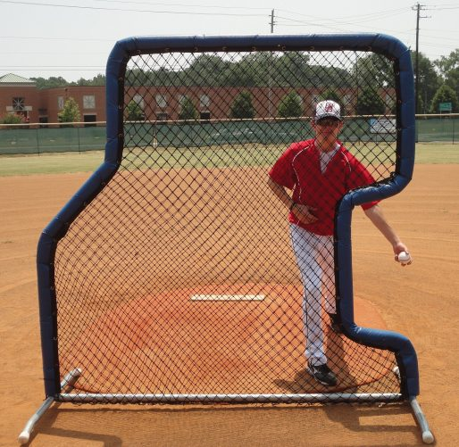 7' x 7' Underhand Overhand Padded Pitching Screen For Baseball & Softball