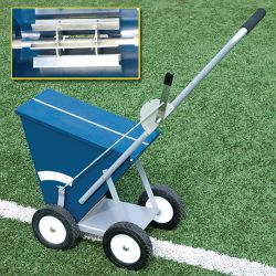 DryLine Markers & Chalkers For Baseball Fields Side View & Paddle Wheel Inside View