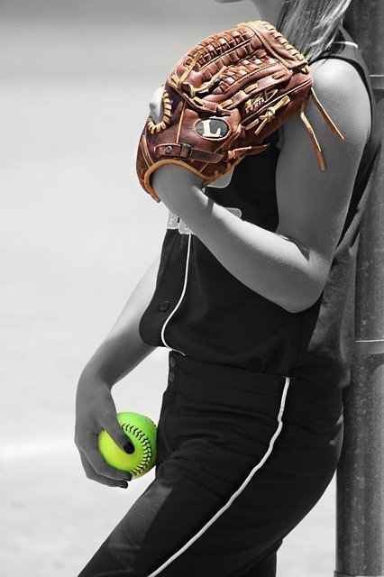 resting softball player is stress free