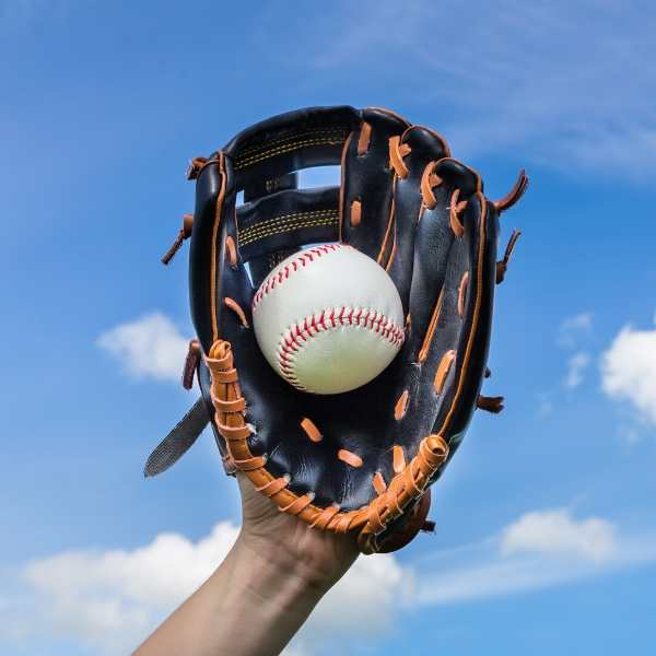 taking care of a new baseball glove