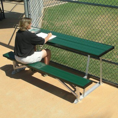Baseball Field Scorers Table & Bench Available In 4 Team Colors