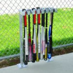 Permanent Mount Dugout Baseball Bat Rack