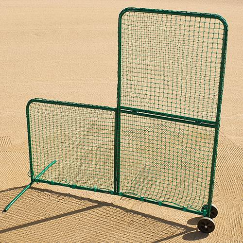 Portable Folding L Screen With Wheels Included
