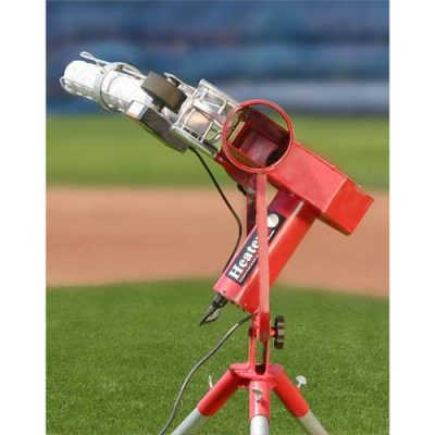 Heater Curveball Pro Baseball Pitching Machine | Front Close Up