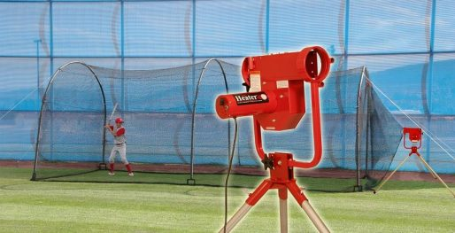 Heater Pro Curve Pitching Machine & Xtender Batting Cage Package