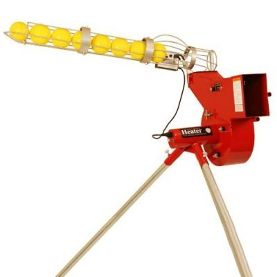 Heater Combo Softball & Baseball Pitching Machine Shown With Optional Auto Ball Feeder