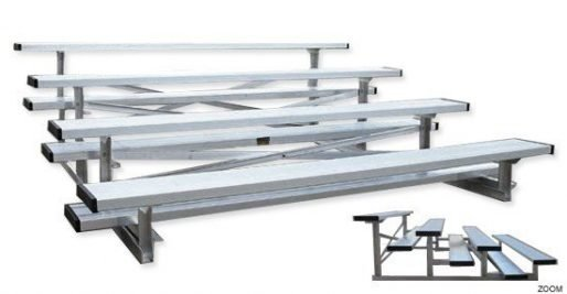 Small Park Bleachers Bleachers 2 Views | Shown With Standard Single Foot Boards | Made In USA Series