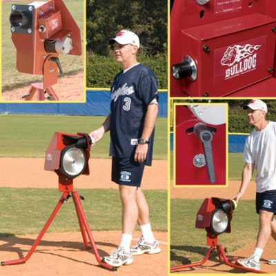 Bulldog Junior Combo BB & SB Pitching Machine In 4 Views