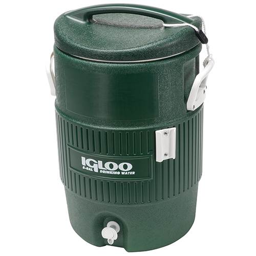 Green Igloo Cooler In 5 & 10 Gallon Without Cup Dispenser