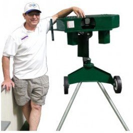 Phantom SafePitch 2 Wheel Pitching Machine In Baseball Curve Mode With Coach JP