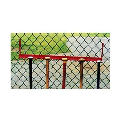 Steel Fence Baseball Bat Rack
