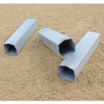 Standard Base Anchor (set of 3) Close Up On Dirt