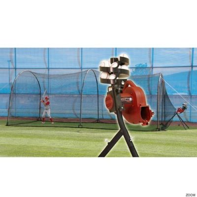 Basehit Pitching Machine & Xtender Backyard Batting Cage