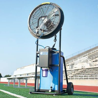Rolling Sports Misting Fan Rear View