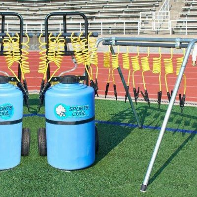 20 Player Team Hydration Station For All Sports Teams With 2 Powered Rolling Stations & 1 Drinking Tree